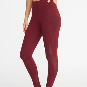 High waisted Old Navy leggings (red & gray pair)